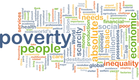 inequality: Background concept wordcloud illustration of poverty