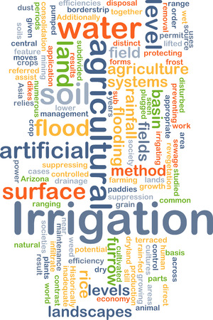 Background concept wordcloud illustration of irrigation illustration