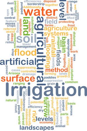 Background concept wordcloud illustration of irrigation