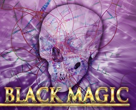 necromancy: Abstract background illustration black magic