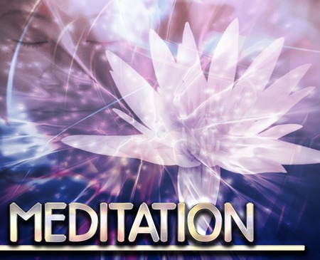psychic: Abstract background digital collage concept illustration meditation contemplation Stock Photo