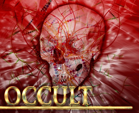 necromancy: Abstract background digital collage concept illustration occult magic Stock Photo