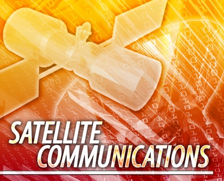 communications: Abstract background illustration satellite communications