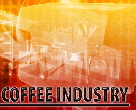 Abstract background illustration coffee industry illustration