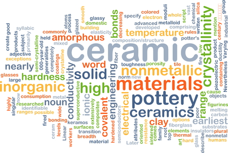covalent: Background concept wordcloud illustration of ceramic