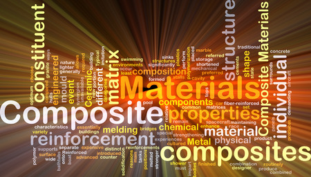 composite: Background concept wordcloud illustration of composite materials Stock Photo