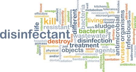 desinfectante: Concepto de fondo wordcloud ilustración de desinfectante