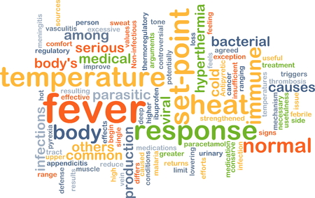 paracetamol: Background concept wordcloud illustration of fever Stock Photo