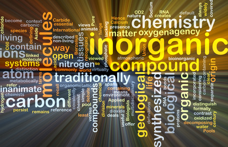 ions: Background concept wordcloud illustration of inorganic glowing light