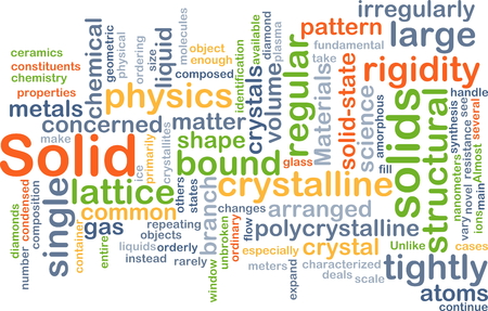 solid: Background concept wordcloud illustration of solid