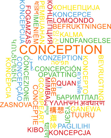 conception: Background concept wordcloud multilanguage international many language illustration of conception