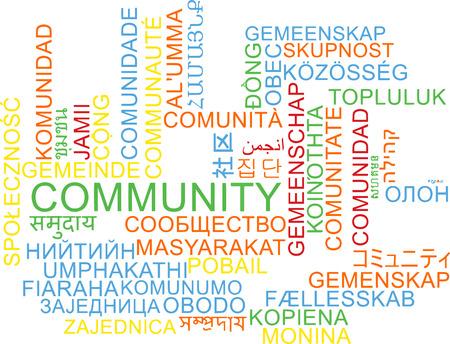 multilanguage: Background concept wordcloud multilanguage illustration of community