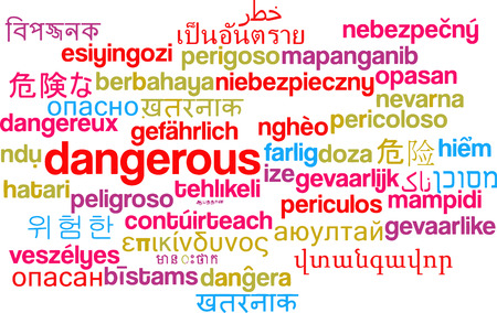 harm: Background concept wordcloud multilanguage illustration of dangerous Stock Photo