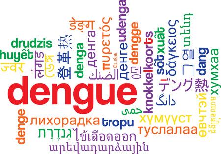dengue: Background concept wordcloud multilanguage illustration of dengue