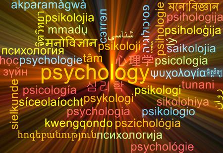 psicologia: Concepto de fondo wordcloud ilustración multilenguaje de la psicología