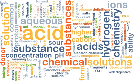 react: Background concept wordcloud illustration of acid Stock Photo
