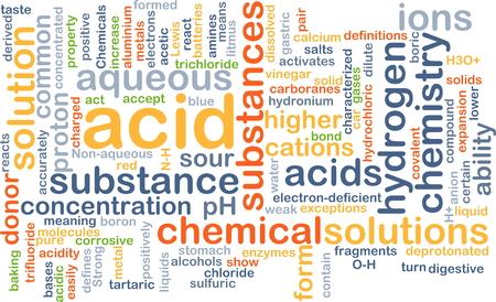 ácido: Concepto de fondo wordcloud ilustración de ácido