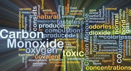 Background concept wordcloud illustration of carbon monoxide