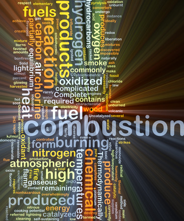 combustion: Background concept wordcloud illustration of combustion Stock Photo