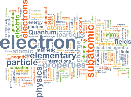 generates: Background concept wordcloud illustration of electron