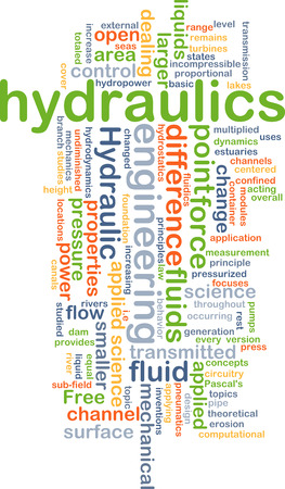 pressurized: Background concept wordcloud illustration of hydraulics