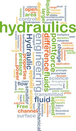 Koncepcja wordcloud ilustracji hydrauliki