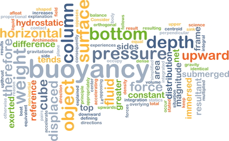 gravitational: Background concept wordcloud illustration of buoyancy