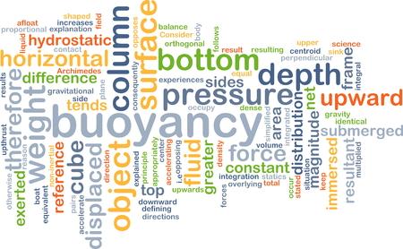buoyancy: Concepto de fondo wordcloud ilustraci�n de la flotabilidad Foto de archivo