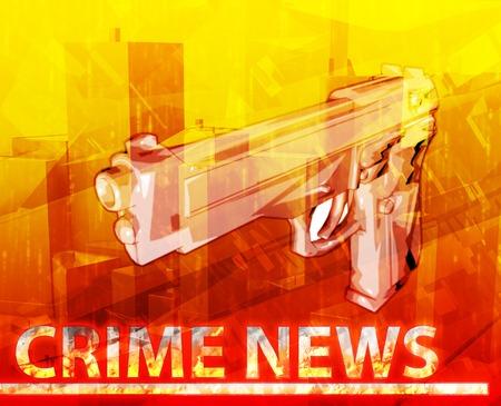 gun control: Abstract background illustration crime news Stock Photo