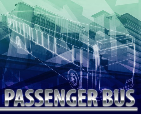 commuting: Abstract background illustration passenger bus