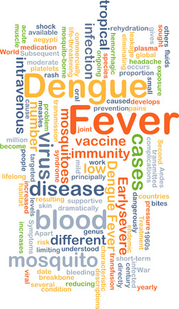chock: Background concept wordcloud illustration of dengue fever