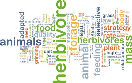herbivore: Background concept wordcloud illustration of herbivore
