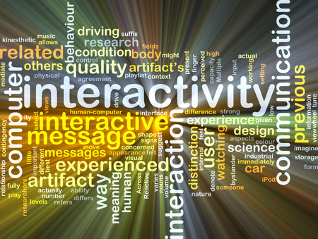 interactivity: Background concept wordcloud illustration of interactivity
