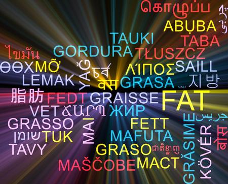 multilanguage: Background concept wordcloud multilanguage illustration of fat