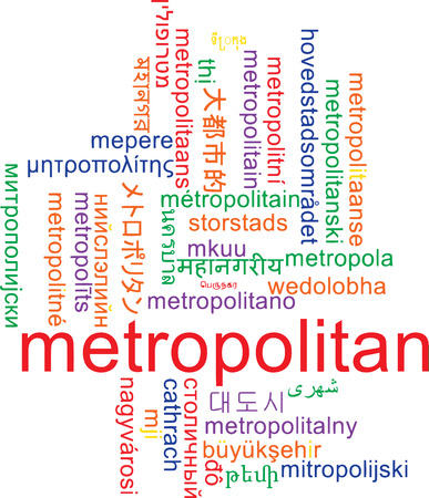 metropolitan: Background concept wordcloud multilanguage international many language illustration of metropolitan