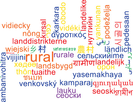 french countryside: Background concept wordcloud multilanguage illustration of rural area
