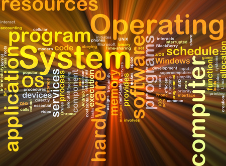 operating system: Background concept wordcloud illustration of operating system OS