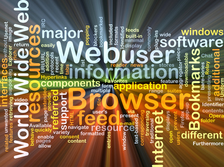 web browser: Background concept wordcloud illustration of web browser