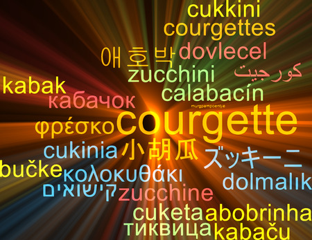 courgette: Background concept wordcloud multilanguage illustration of courgette