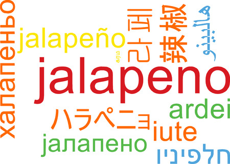 jalapeno: Background concept wordcloud multilanguage illustration of jalapeno