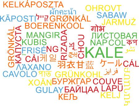 kale: Background concept wordcloud multilanguage illustration of kale Stock Photo