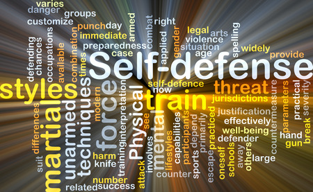practical: Background concept wordcloud illustration of self-defense Stock Photo