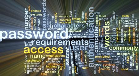 secret code: Background concept wordcloud illustration of password