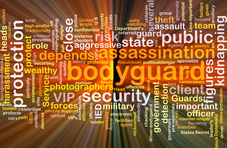bodyguard: Background concept wordcloud illustration of bodyguard