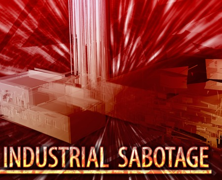 sabotage: Abstract background illustration industrial sabotage property damage Stock Photo