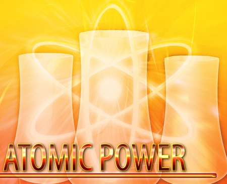 meltdown: Abstract background illustration atomic power nuclear