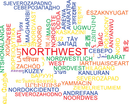 wordcloud: Background concept wordcloud multilanguage illustration of northwest