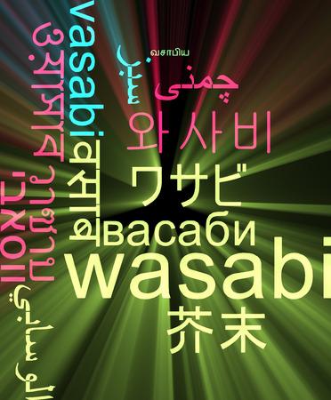 wasabi: Background concept wordcloud multilanguage illustration of wasabi