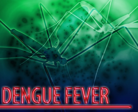 carried: Abstract background illustration dengue fever mosquito disease Stock Photo