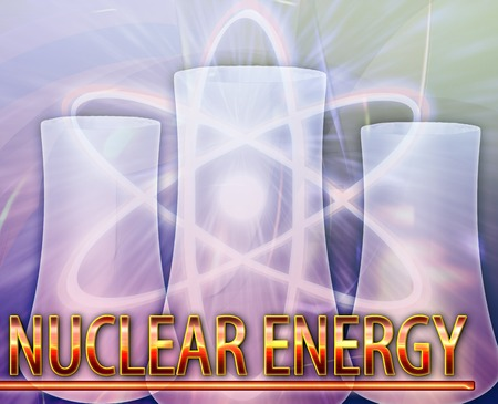 fission: Abstract background digital collage concept illustration nuclear energy reactor